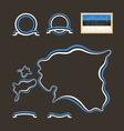 Colors of Estonia vector image