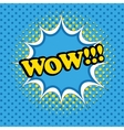 Comic bubble wow text vector image vector image