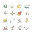 cosmos icons vector image vector image