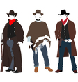 Cowboys vector image