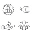 customer retention management icon set outline vector image