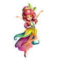 cute colorful fairy character vector image vector image