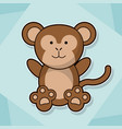 cute monkey baby animal cartoon image vector image vector image