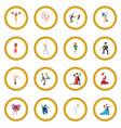 dances cartoon icon circle vector image vector image