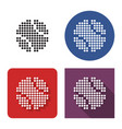 dotted icon baseball in four variants with vector image vector image