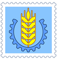 Ear of wheat stamp vector image vector image