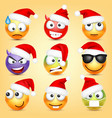 emoticon set yellow face with emotions and vector image
