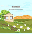 farm house nature beautiful green yard vector image vector image