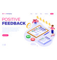 feedback or survey questionnaire form vector image