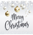 festive white banner merry christmas greetings vector image