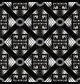 geometric meander seamless pattern black vector image vector image