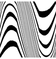 Grunge Lined Wavy vector image vector image