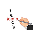 hand writing learn and teach vector image