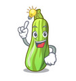 have an idea fresh vegetable zucchini isolated on vector image vector image