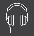 headphone line icon listen and music vector image