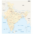 india road map with main cities vector image vector image