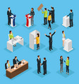isometric people election set vector image vector image
