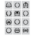 laurel wreaths icon vector image vector image