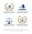 law logo designs vector image