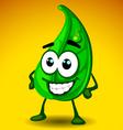 leaf mascot vector image vector image
