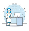 medical research woman vector image vector image