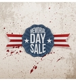 Memorial Day Sale Emblem with Ribbon and Shadow vector image vector image