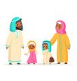 muslim family arabian people characters parents vector image vector image