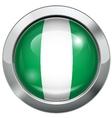 Nigeria flag metal button vector image
