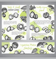 nuts and seeds background collection hand drawn vector image