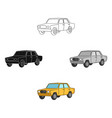 old carcar single icon in cartoonblack style vector image