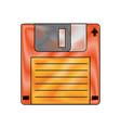 old diskette database storage vector image vector image