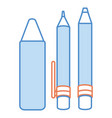 pen school with pencil and crayon vector image vector image