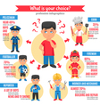 Professions Kids Infographics vector image vector image