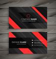 red black business card stripes design vector image vector image
