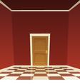 Room Door vector image vector image