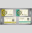 set creative business cards vector image vector image