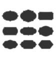 Set monochrome vintage frames vector image