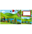 set of animal in nature template vector image