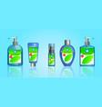 set sanitizer bottle or various hand sanitizer vector image