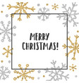 shiny gold and silver snowflakes vector image vector image
