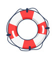 shiny striped life buoy isolated vector image