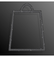 Silver Sequins Shopping Bag Glitter Sale offer vector image