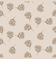simple brown flower pattern design vector image vector image