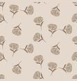 simple brown flower pattern design vector image