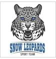 Snow Leopards - sport emblem vector image vector image