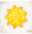 Sunny geometric background vector image