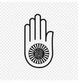 symbol jainism vector image
