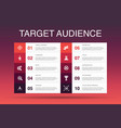 target audience infographic 10 option template