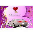 valentines day greeting card invitation card vector image vector image