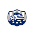 Vintage Pick Up Truck USA Flag Crest Retro vector image vector image